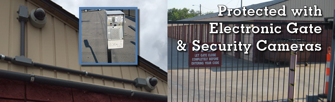 Security Cameras and Secure Electronic Gate